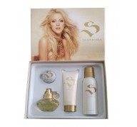 Estuche S by Shakira 80ml edt + Desodorante 150ml + leche corporal 100ml + Bálsamo Labial
