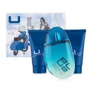 U blue Man edt 100ml + Shower Gel 50 ml + After Shave Emulsion 50 ml