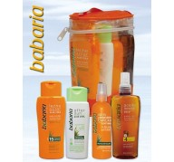 Babaria sac à dos: huile + lait Sun +  Protecteur cheveux + After Sun