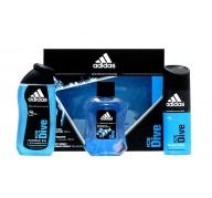 Adidas Ice Dive edt 100ml + Gel 250ml + Deo 150ml