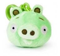 Peluche porte-clés cochon vert Angry Birds
