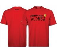 Chemisette Rouge avec le Nom de FERNANDO ALONSO