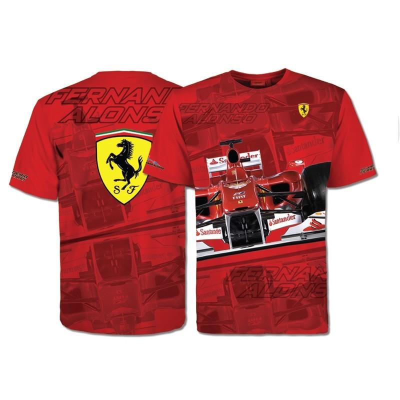Camiseta Ferrari Niño Fernando Alonso Coche a1249732a3a